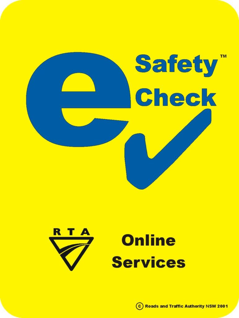 e safety check rego pink slip