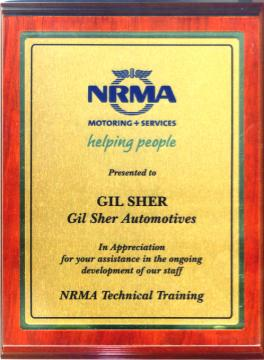 NRMA thanks Gil Auto