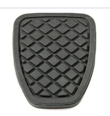 Rubber surface on brake pedal prevents shoe slipping off brake pedal when wet